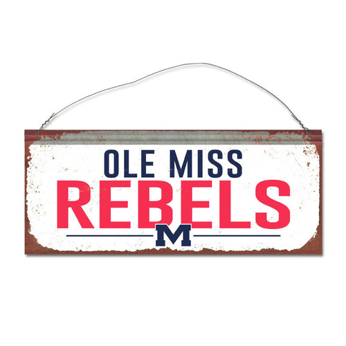 University of Mississippi Small White Sign