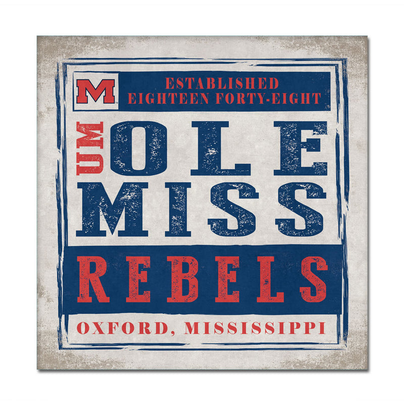 University of Mississippi Chronicle Canvas Wall Art