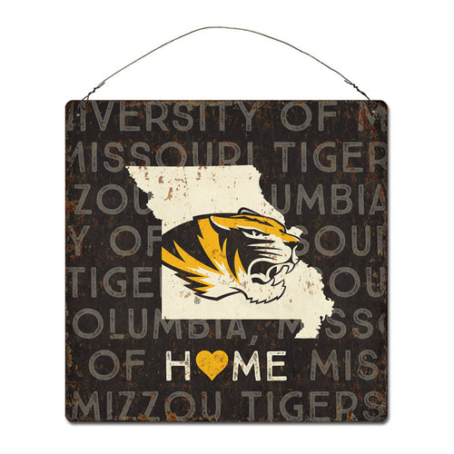 University of Missouri Home State Tin Sign