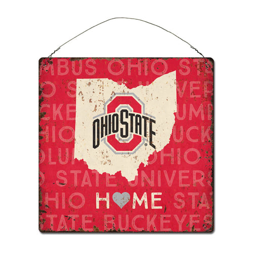 Ohio State University Home State Tin Sign