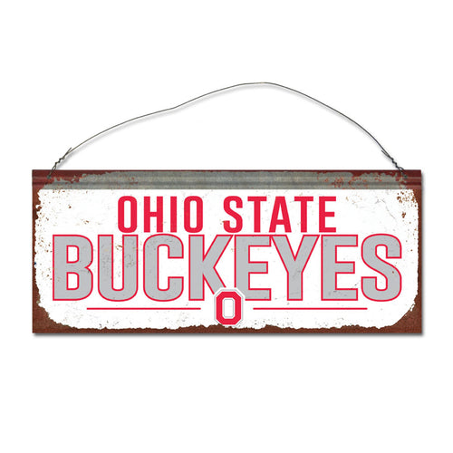 Ohio State University Small White Sign