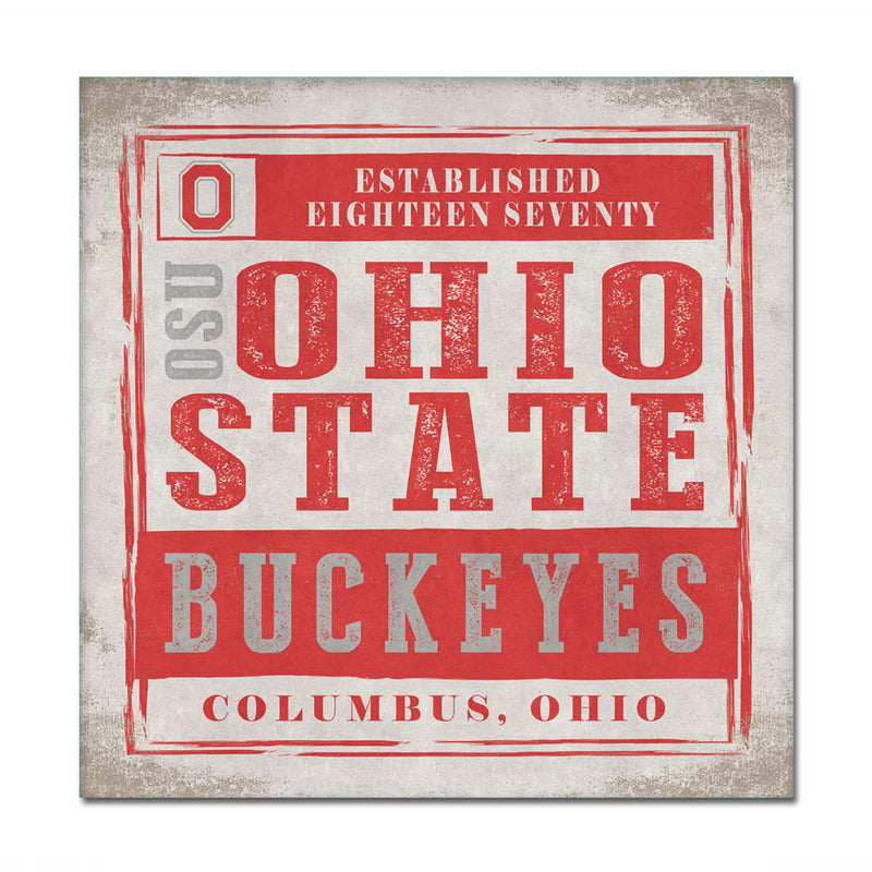 Ohio State University Chronical Canvas Wall Art