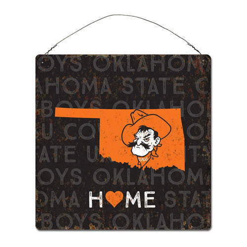 Oklahoma State University Home State Tin Sign