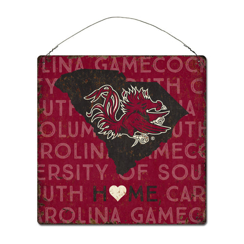 University of South Carolina Home State Tin Sign