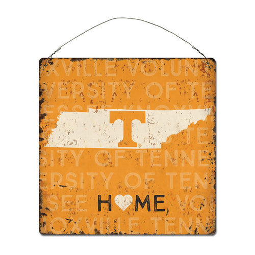 University of Tennessee Home State Tin Sign