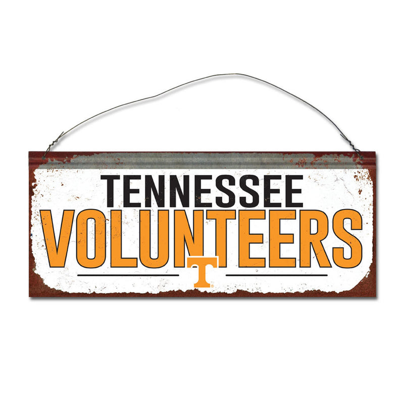 University of Tennessee Small White Sign