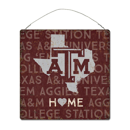 Texas A&M University Home State Tin Sign
