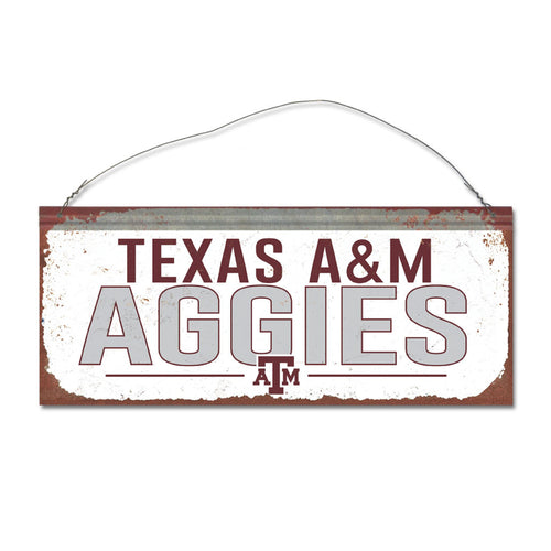 Texas A&M University Small White Sign