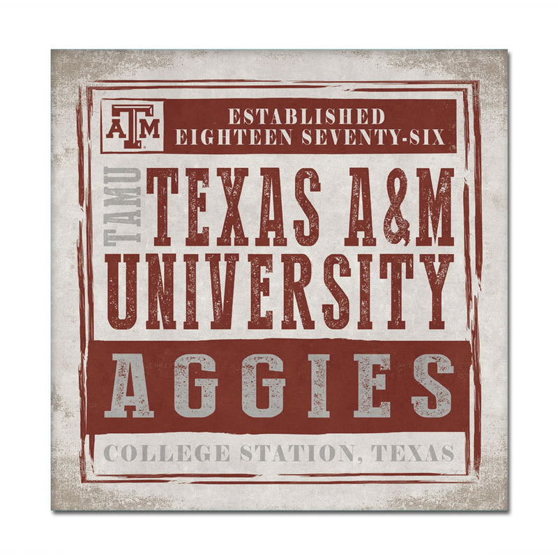 Texas A&M University Chronical Canvas Wall Art