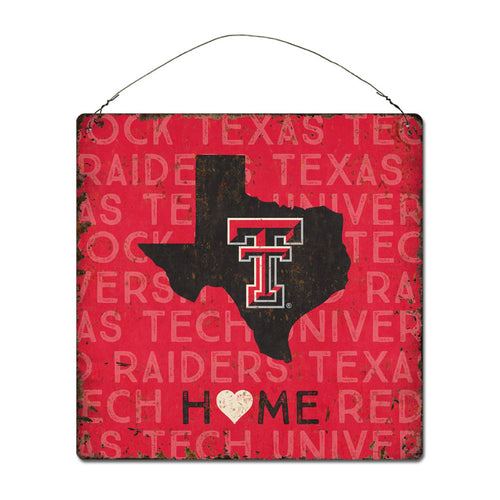 Texas Tech University Home State Tin Sign
