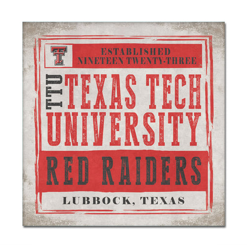 Texas Tech University Chronical Canvas Wall Art