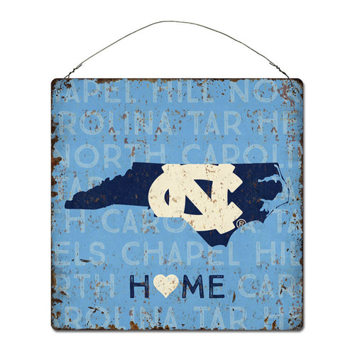 University of North Carolina Home State Tin Sign