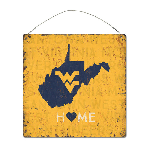West Virginia University Home State Tin Sign