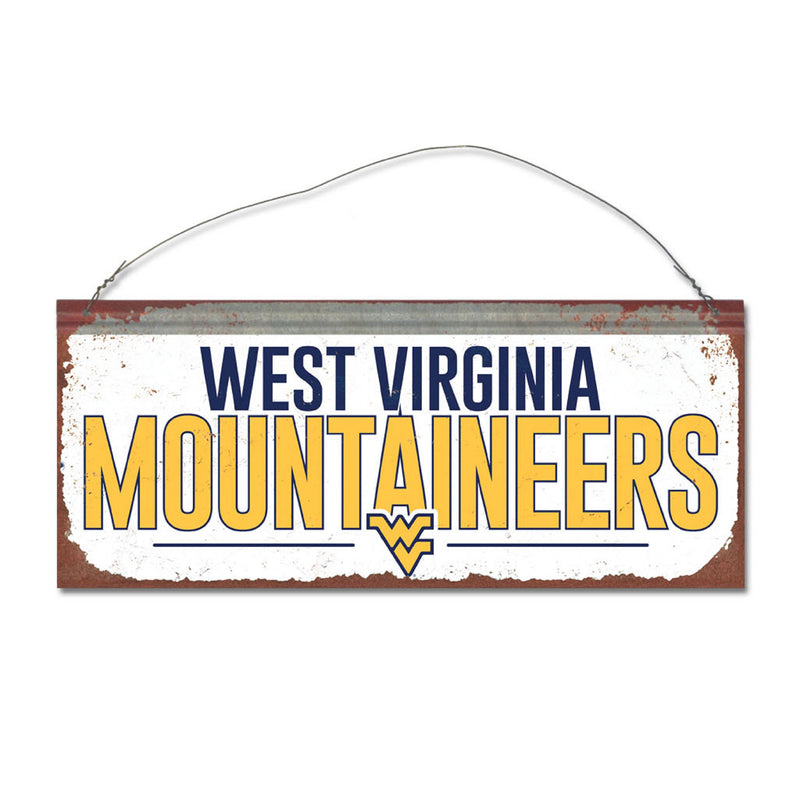 West Virginia University Small White Sign