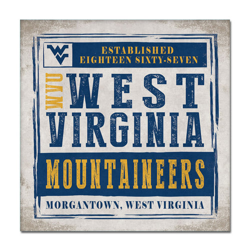 West Virginia University Chronical Canvas Wall Art