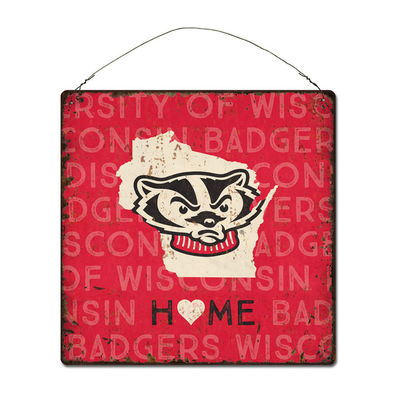 University of Wisconsin Home State Tin Sign