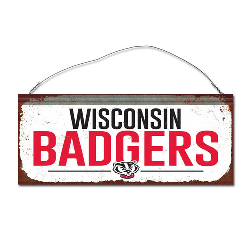 University of Wisconsin Small White Sign
