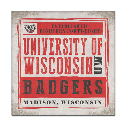 University of Wisconsin Chronicle Canvas Wall Art