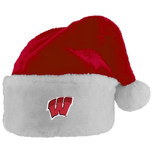 University of Wisconsin Badgers Santa Hat