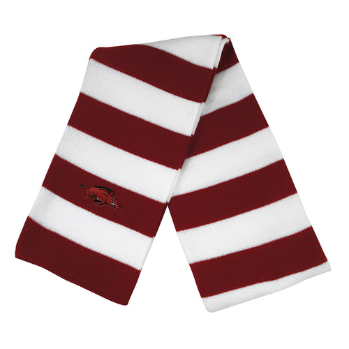 University of Arkansas Knit Rugby Scarf