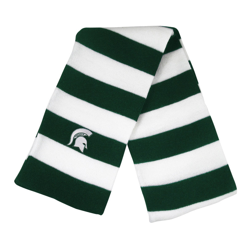 Michigan State University Knit Rugby Scarf