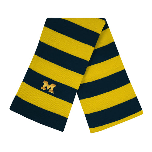 University of Michigan Knit Rugby Scarf