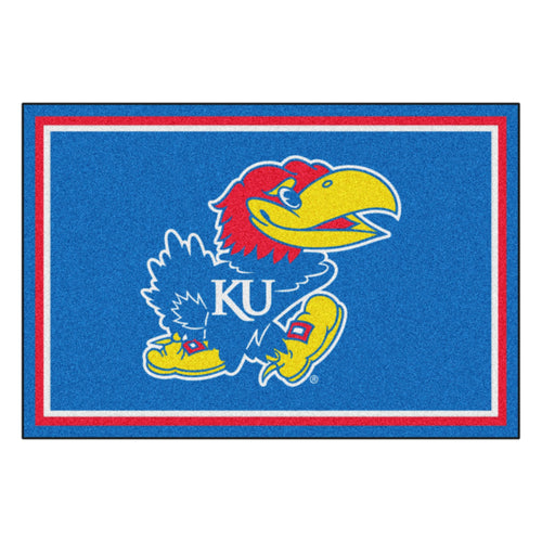 University of Kansas Mascot Area Rug