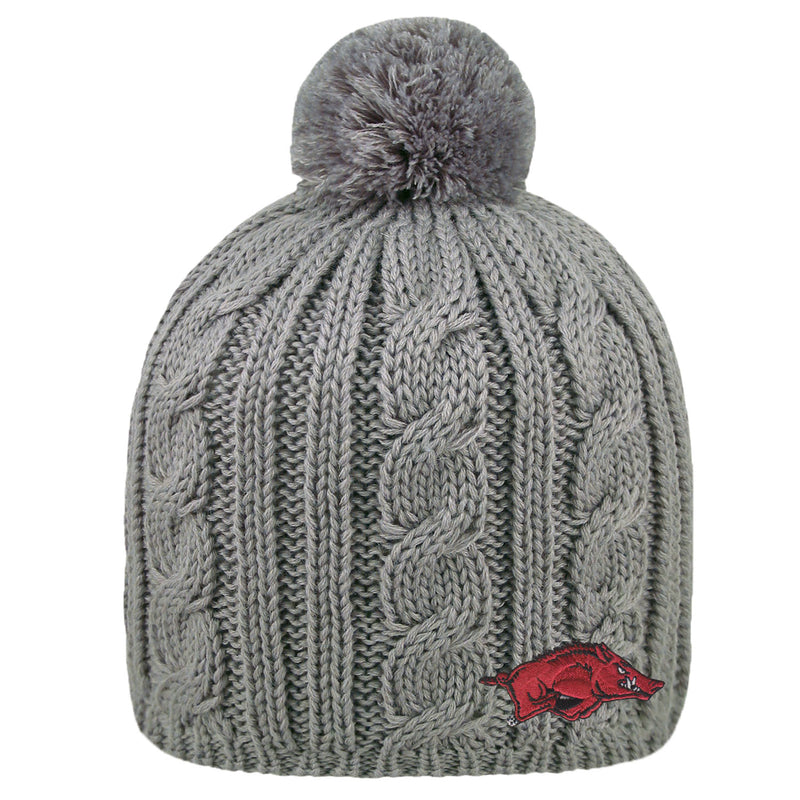 University of Arkansas Razorbacks Cumberland Pom Pom  Beanie
