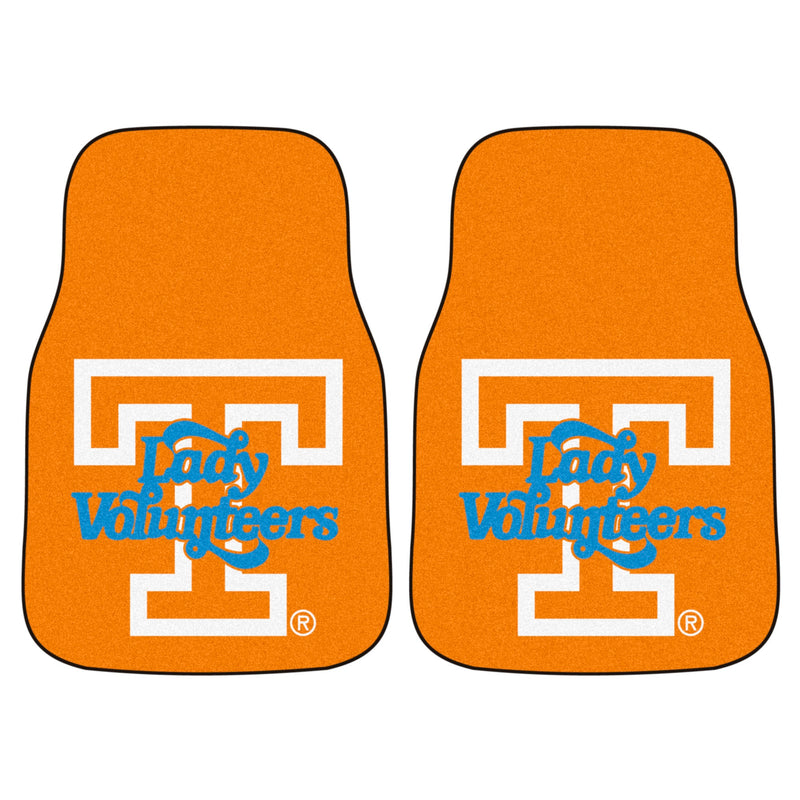 University of Tennessee Lady Vols Carpet Car Floor Mats - 2-Piece