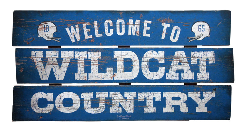 University of Kentucky 'Wildcat Country' Wood Plank Sign