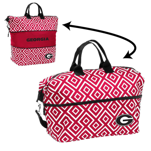 University of Georgia Expandable Double Diamond Tote
