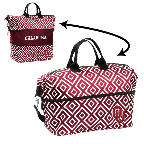 University of Oklahoma Expandable Double Diamond Tote