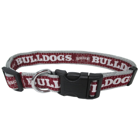 Mississippi State University Nylon Adjustable Dog Collar
