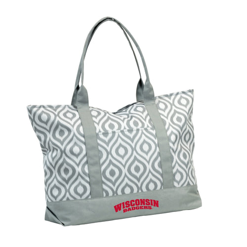 University of Wisconsin Ikat Tote