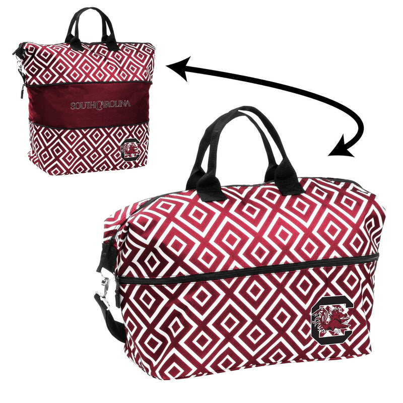 University of South Carolina Expandable Double Diamond Tote