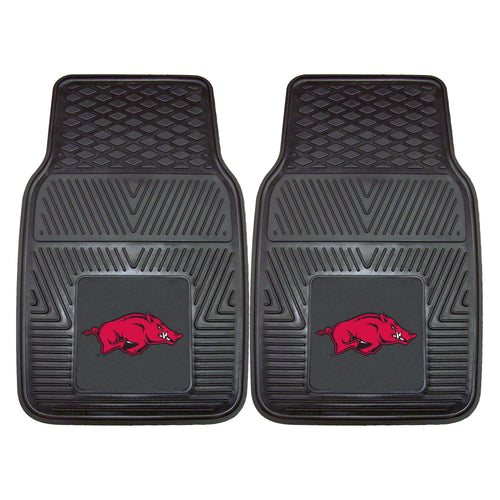 University of Arkansas Heavy Duty Vinyl Car Mats (Set of 2)