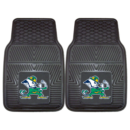 University of Notre Dame Fighting Irish Heavy Duty Vinyl Car Floor Mats (Set of 2)