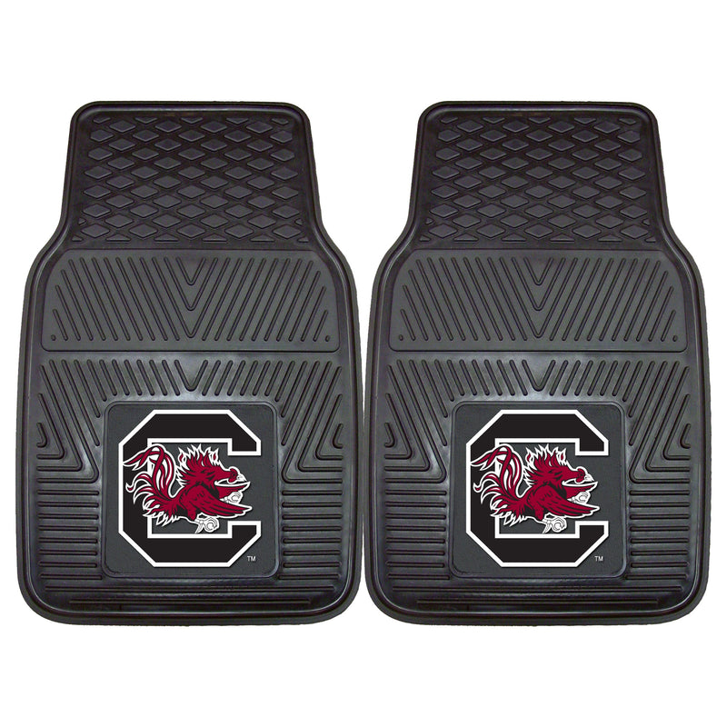 University of South Carolina Heavy Duty Vinyl Car Floor Mats (Set of 2)