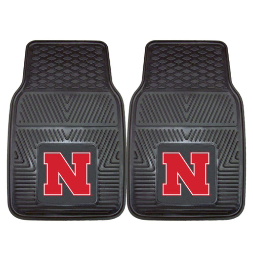 University of Nebraska Heavy Duty Vinyl Car Floor Mats (Set of 2)