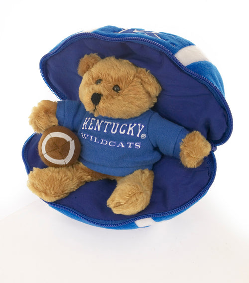 University of Kentucky Zipper Football Bear