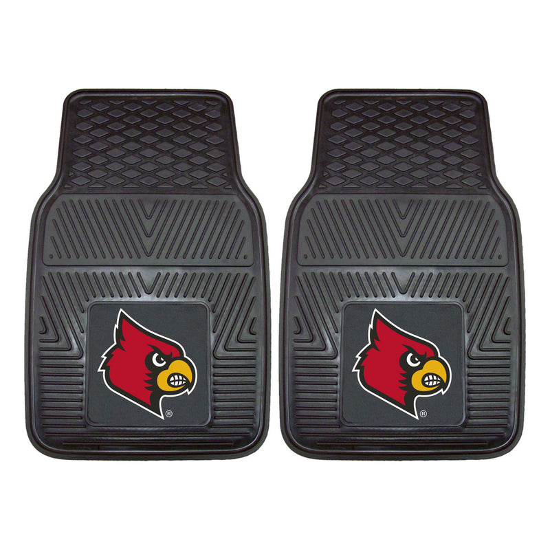 University of Louisville Heavy Duty Vinyl Car Floor Mats (Set of 2)