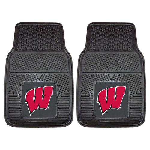 University of Wisconsin Heavy Duty Vinyl Car Floor Mats (Set of 2)