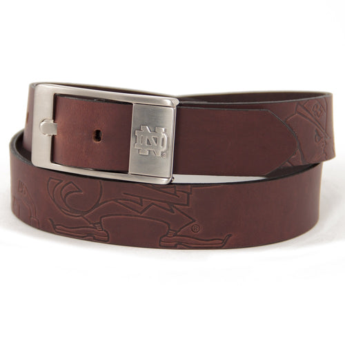 University of Notre Dame Brandish Leather Belt