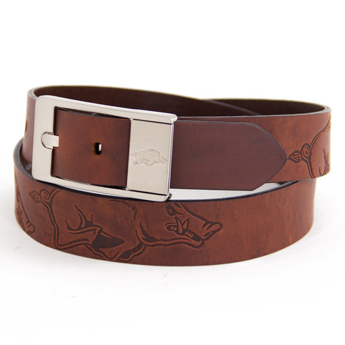 University of Arkansas Brandish Leather Belt