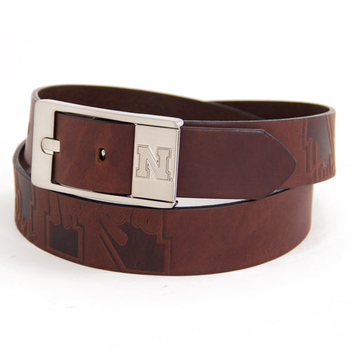 University of Nebraska Brandish Leather Belt