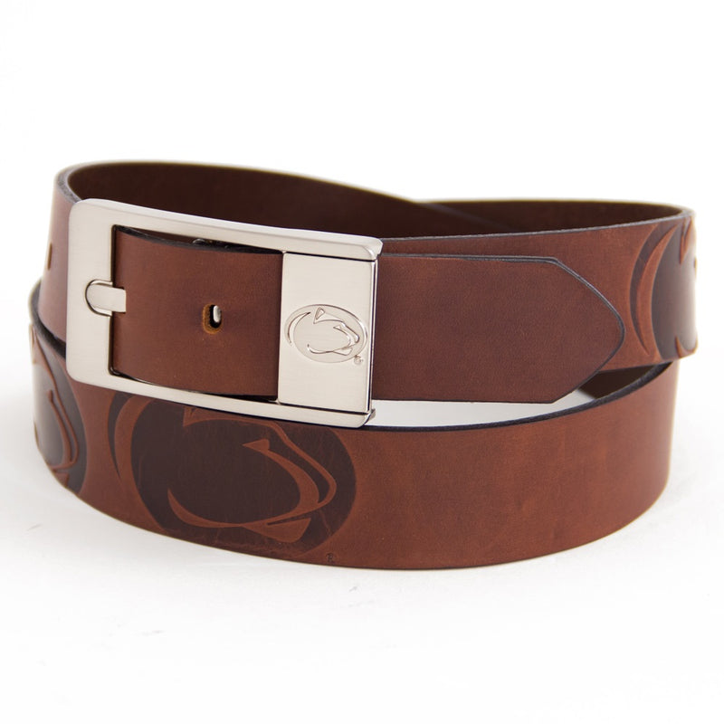Penn State University Brandish Leather Belt
