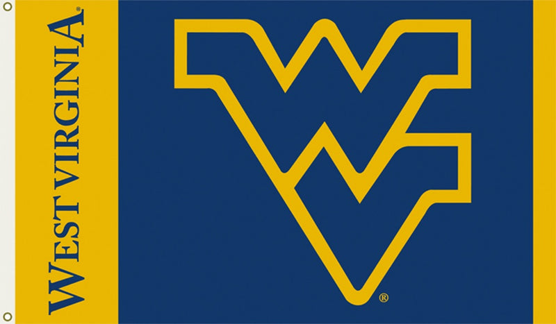 West Virginia University Interlock Logo Flag
