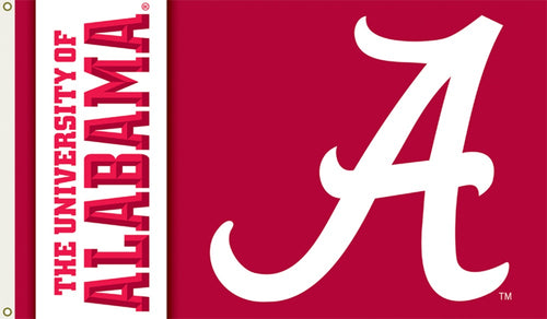 University of Alabama Logo Flag