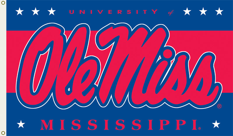 Ole Miss Logo Flag