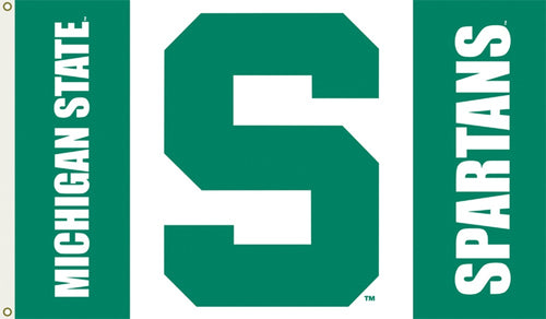 Michigan State University Logo Flag